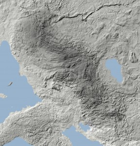 The Fyn Alps accounts clearly that the dark area at this altitude map (reworked material from the base map of Funen).