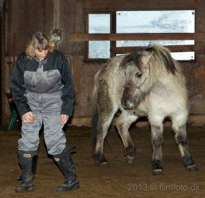 Dorte og Isold på Island, januar 2013.