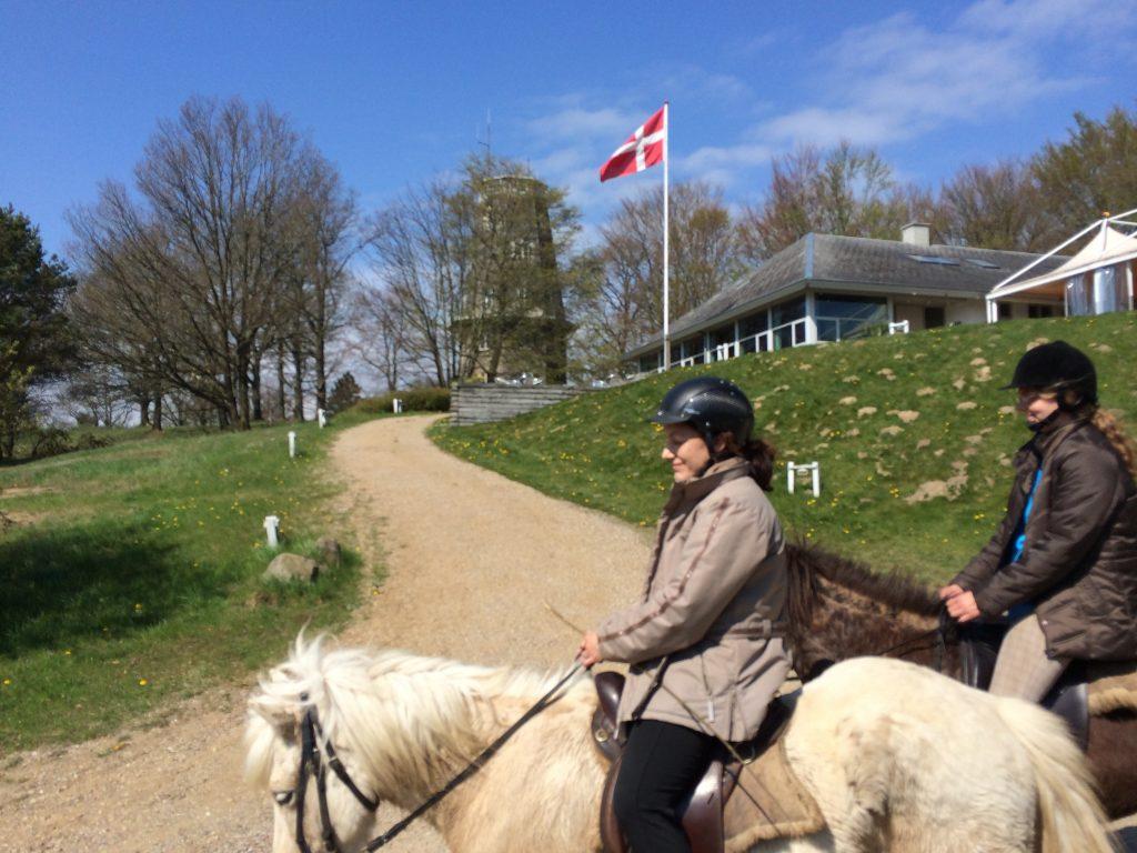 Med Tårnet og Dannebrog i baggrunden på Islandskabsturen 21. april 2014.